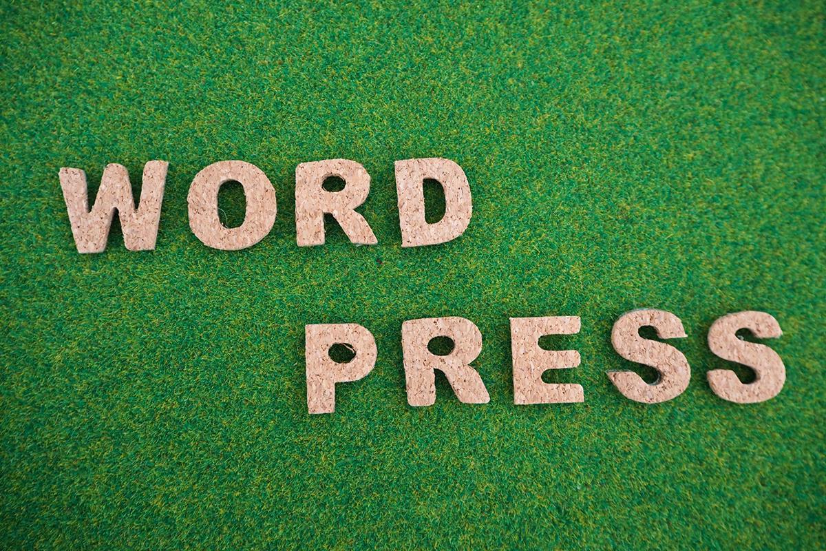 WordPressと書かれた文字