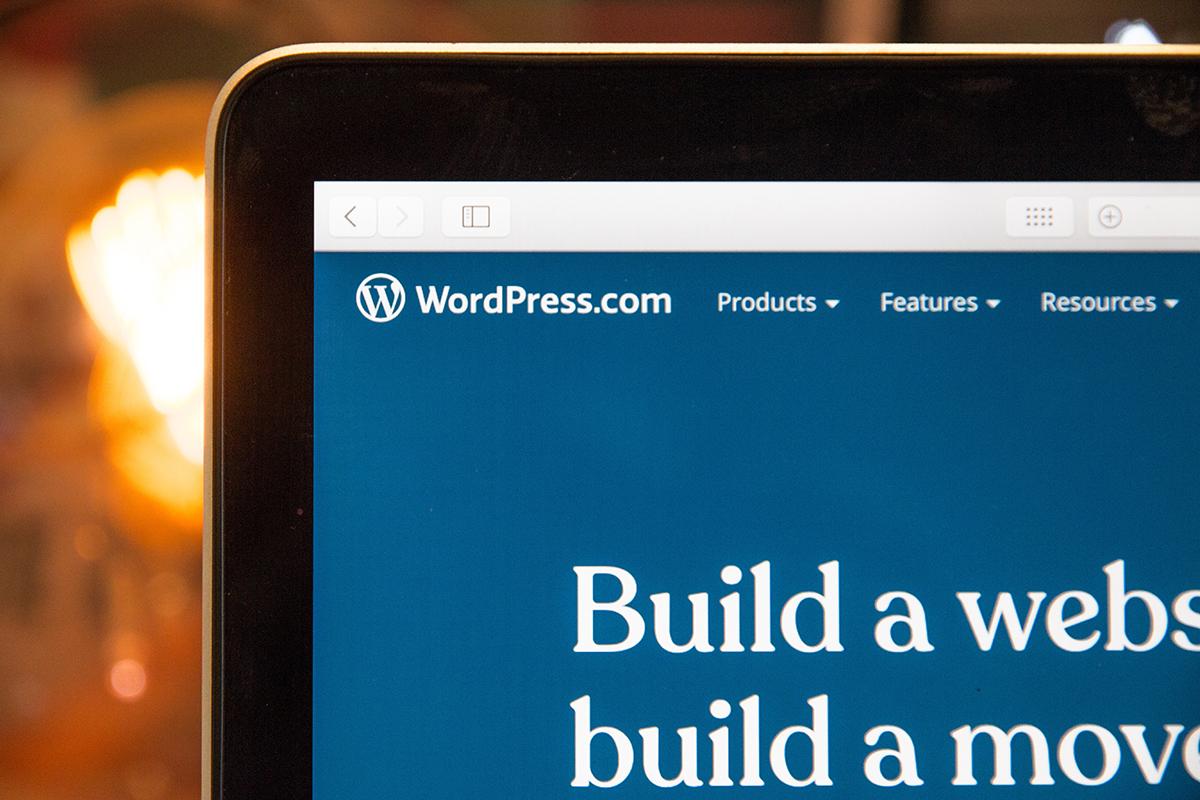WordPress管理画面の一部